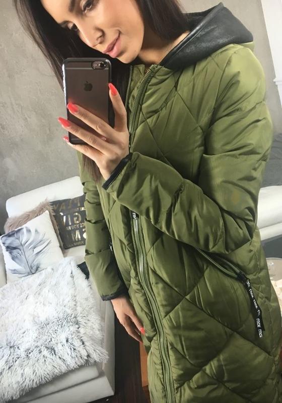 Khaki dámský zimní kabát Bolf 8049
