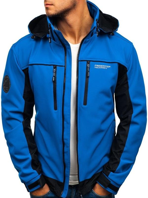 Modrá pánská softshellová bunda Bolf 2339