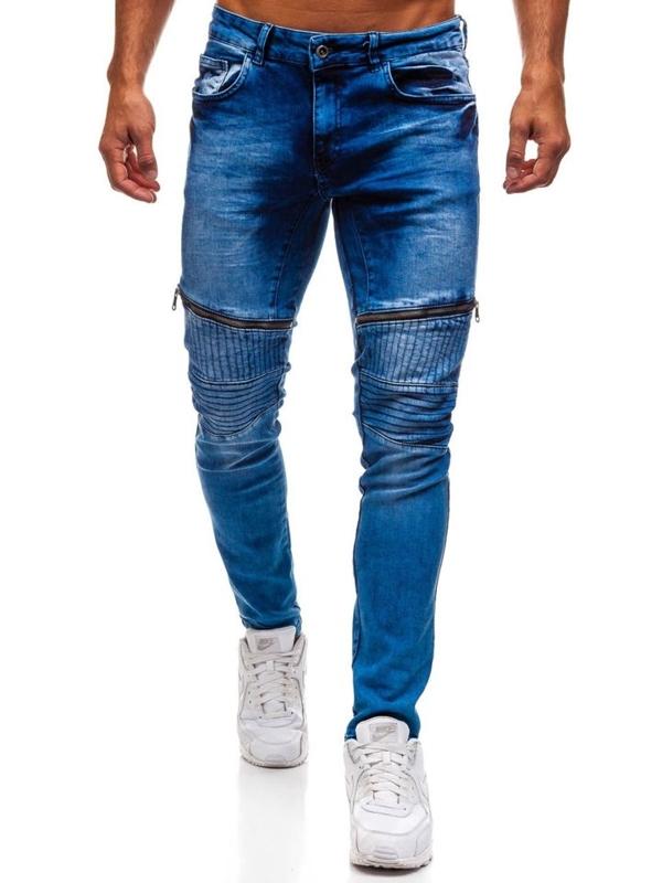 Modré pánské džínové kalhoty Bolf 1708