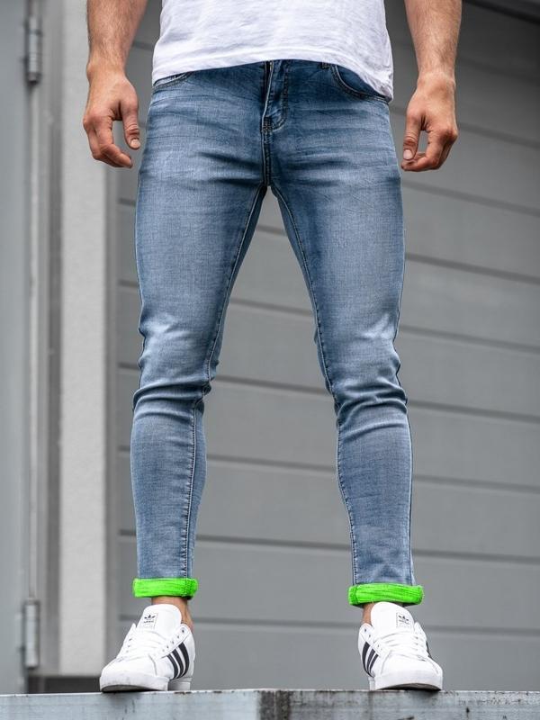 Modré pánské džínové kalhoty Bolf KX162