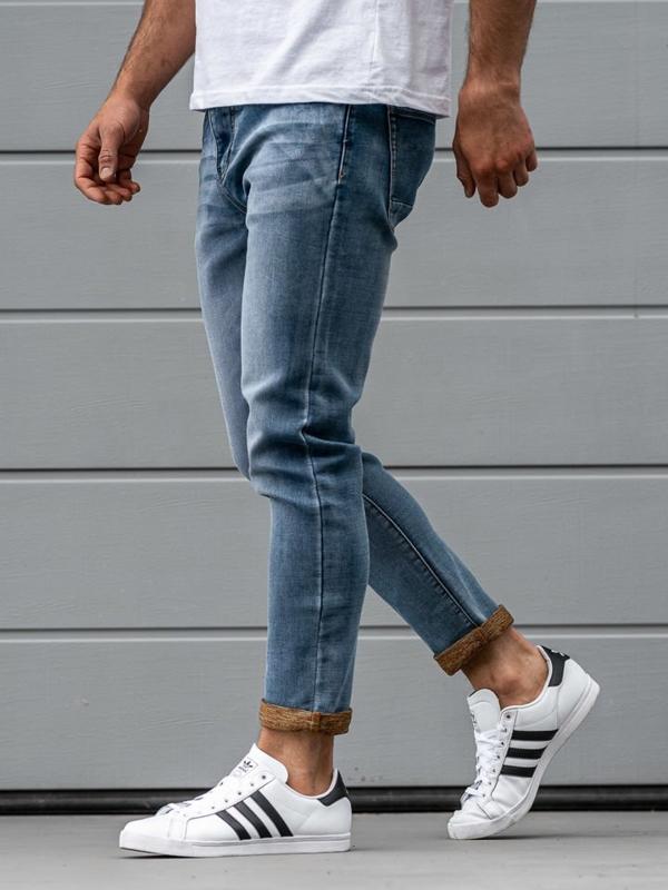 Modré pánské džínové kalhoty Bolf KX163