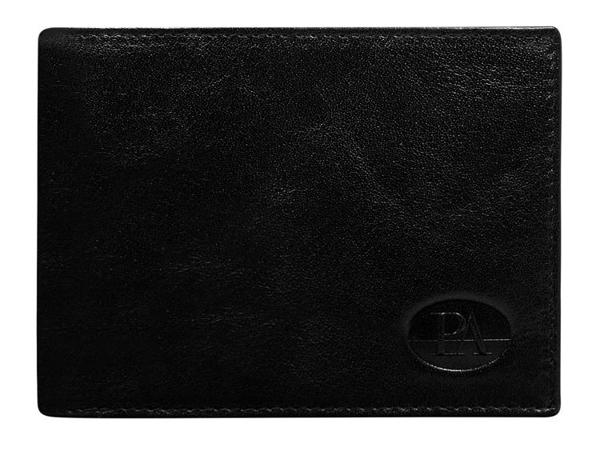 Pánská černá kožená peněženka 102