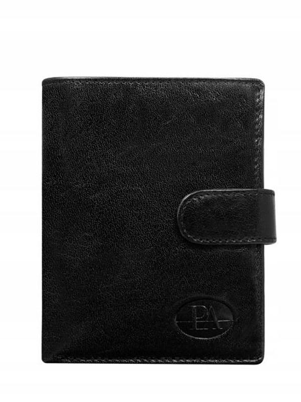 Pánská černá kožená peněženka 104