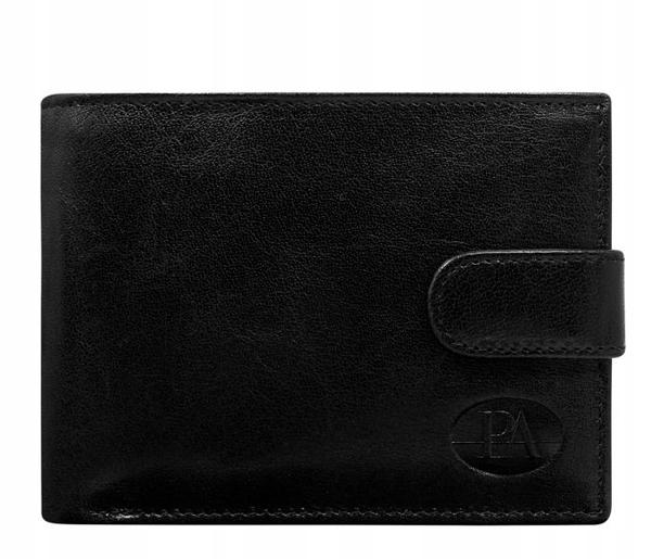 Pánská černá kožená peněženka 108