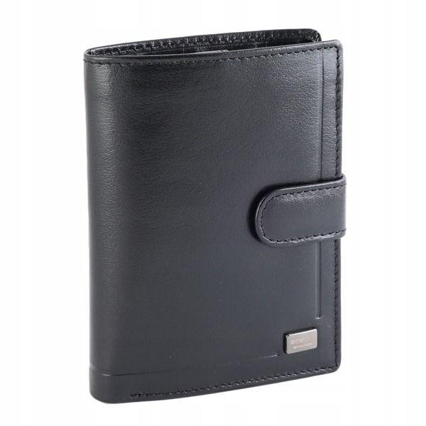 Pánská černá kožená peněženka 194