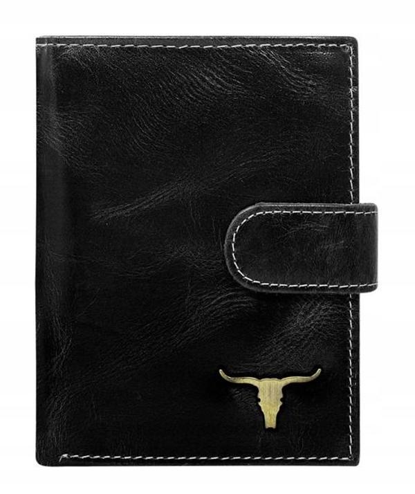 Pánská černá kožená peněženka 50
