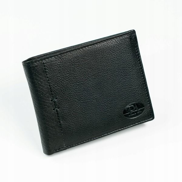 Pánská černá kožená peněženka 874