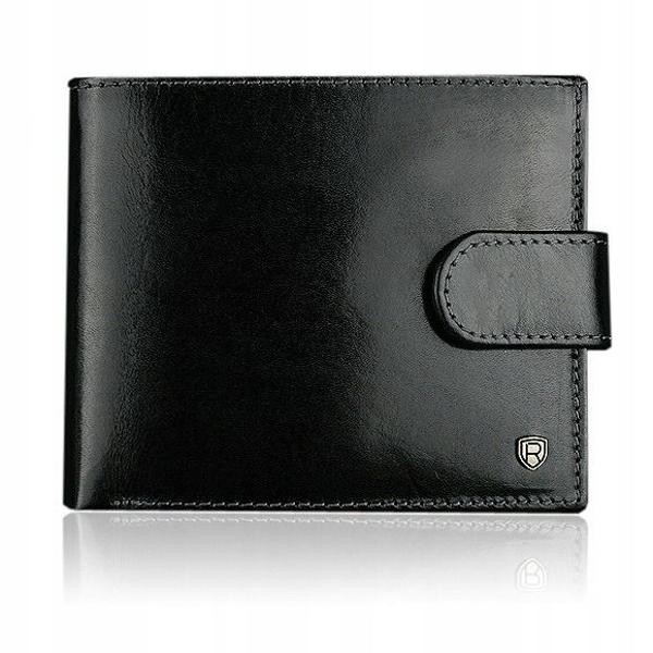 Pánská černá kožená peněženka 906
