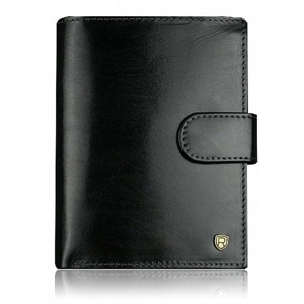 Pánská černá kožená peněženka 915