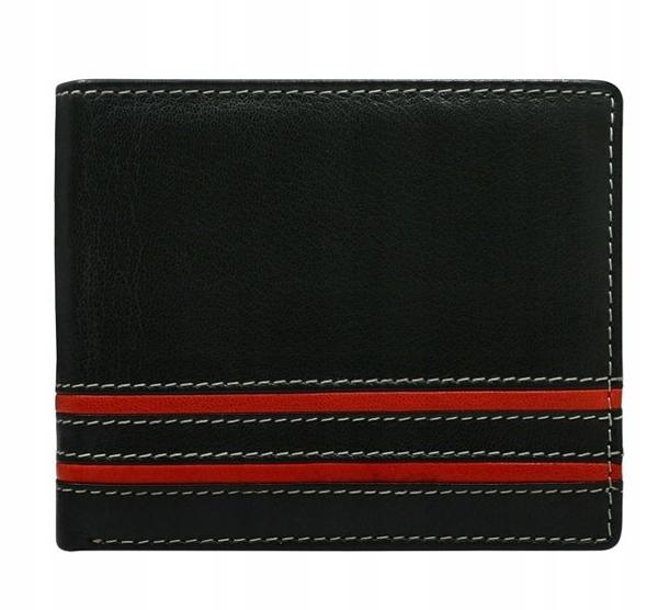 Pánská červená kožená peněženka 597