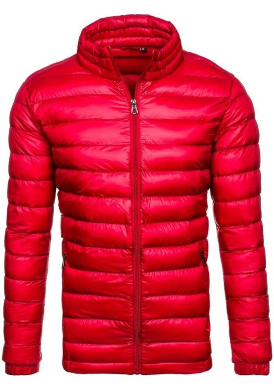 Pánská červená přechodná bunda bez kapuce Bolf 3083