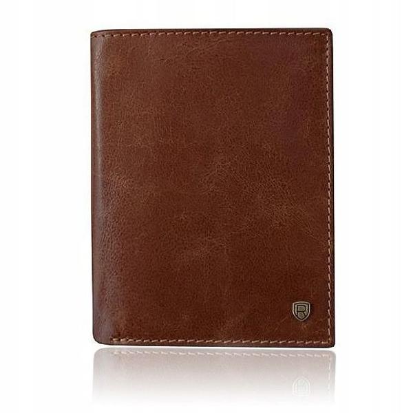 Pánská hnědá kožená peněženka 922
