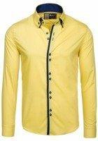 Pánská košile BOLF 1721-1 žlutá