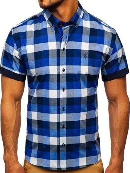 Pánská košile BOLF 5532 tmavě modrá
