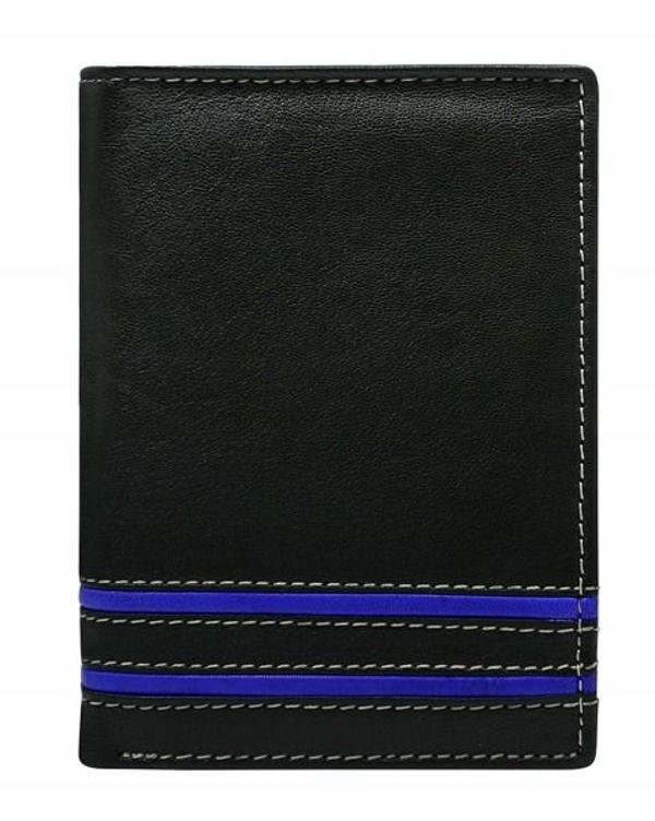Pánská modrá kožená peněženka 599