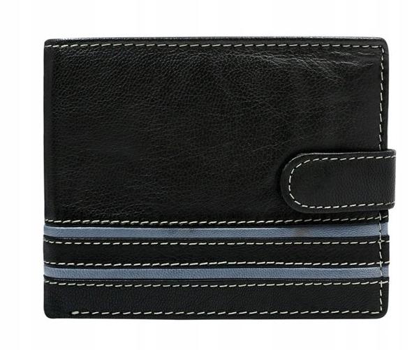 Pánská šedá kožená peněženka 588