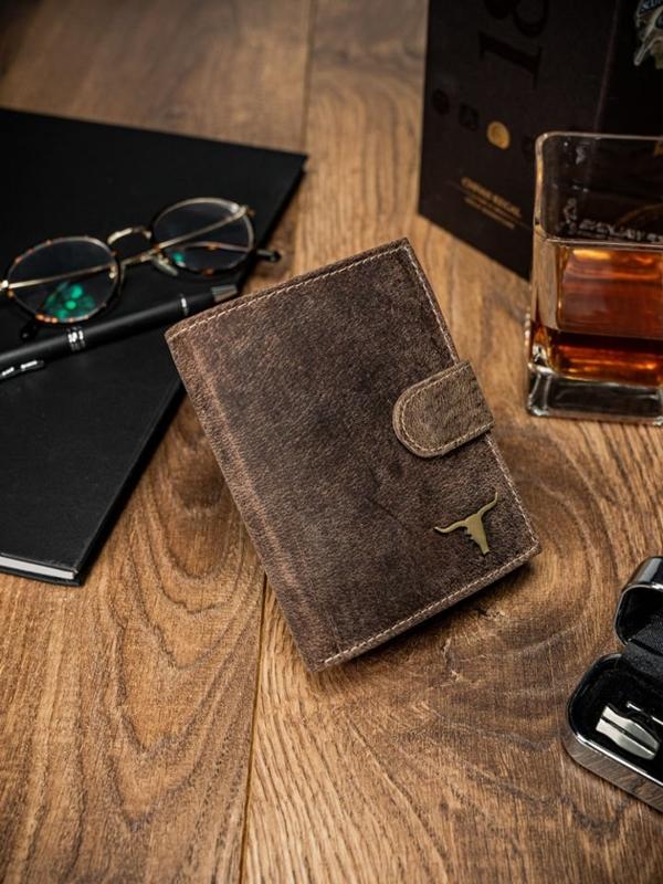 Pánská světle hnědá kožená peněženka 43