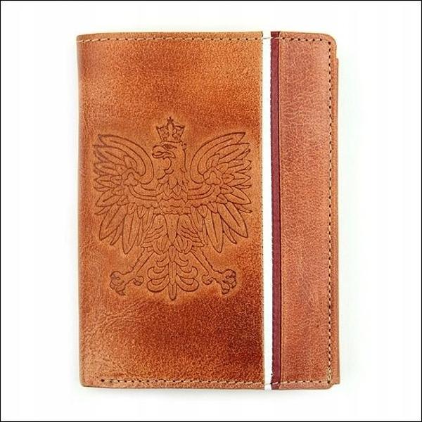 Pánská světle hnědá kožená peněženka 679