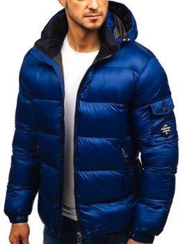 Tmavě modrá pánská zimní bunda Bolf AB64