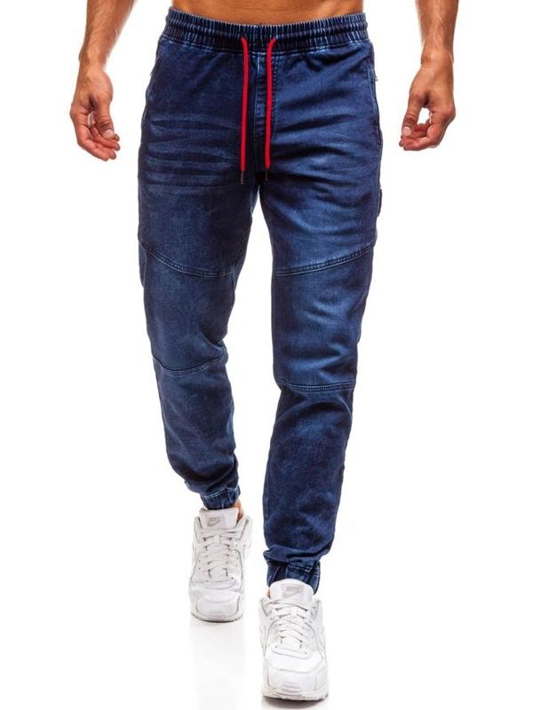 Tmavě modré pánské džínové jogger kalhoty Bolf Y267