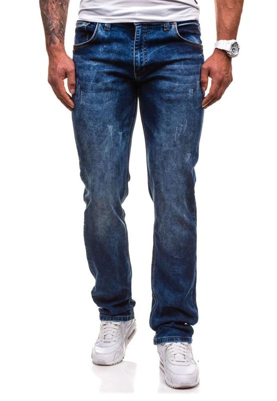 Tmavě modré pánské džínové kalhoty Bolf 4447