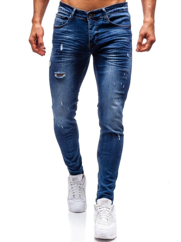 Tmavě modré pánské džíny Bolf 1016