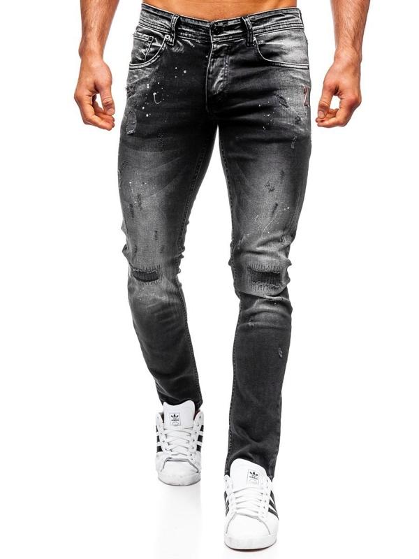 Tmavě modré pánské džíny regular fit Bolf 4000