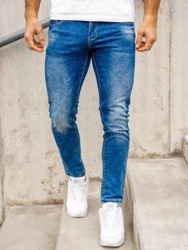 Tmavě modré pánské džíny regular fit Bolf KX509