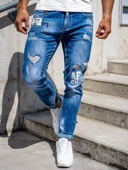 Tmavě modré pánské džíny skinny fit Bolf 85006S0