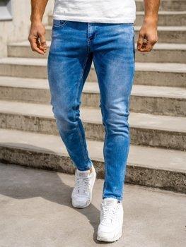 Tmavě modré pánské džíny skinny fit Bolf KX398