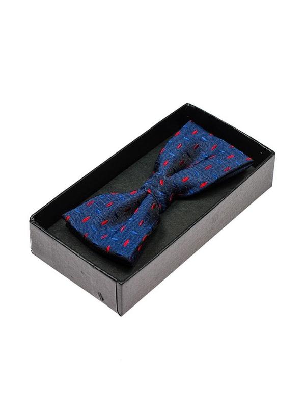 Tmavě modro-červený pánský elegantní motýlek Bolf M010
