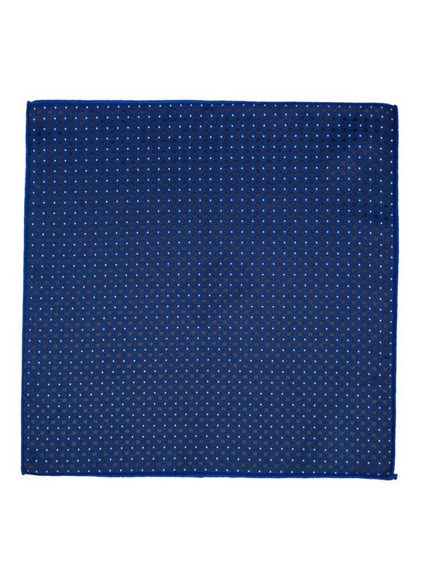 Tmavě modrý kapesníček do saka Bolf PO05