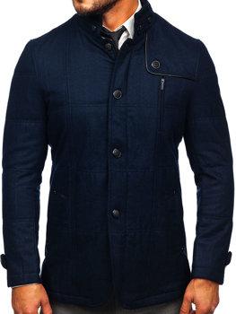 Tmavě modrý pánský kabát Bolf EX66A