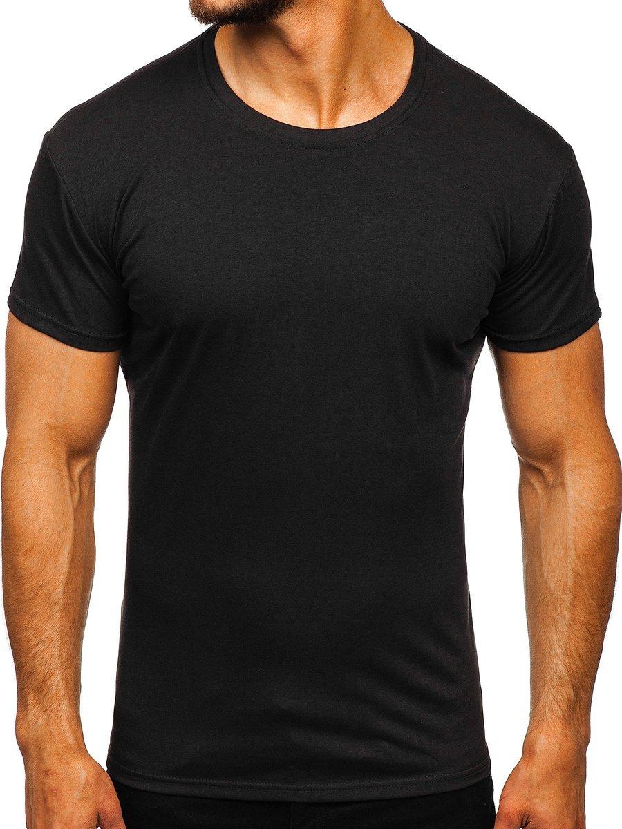 Černé pánské tričko bez potisku Bolf 2005 ffd3f9fe5c