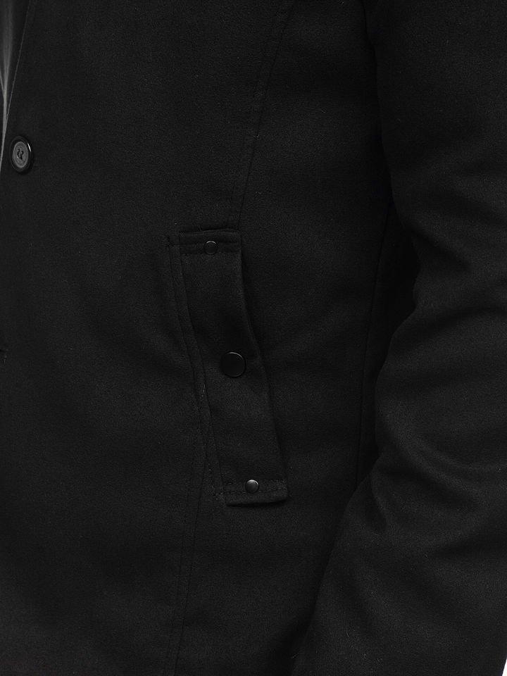 Černý pánský kabát Bolf 8853 e4e78e677b5
