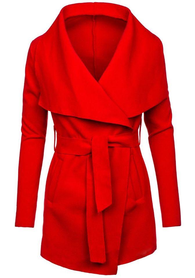 Červený dámský kabát Bolf 1726 edbe18e9fed