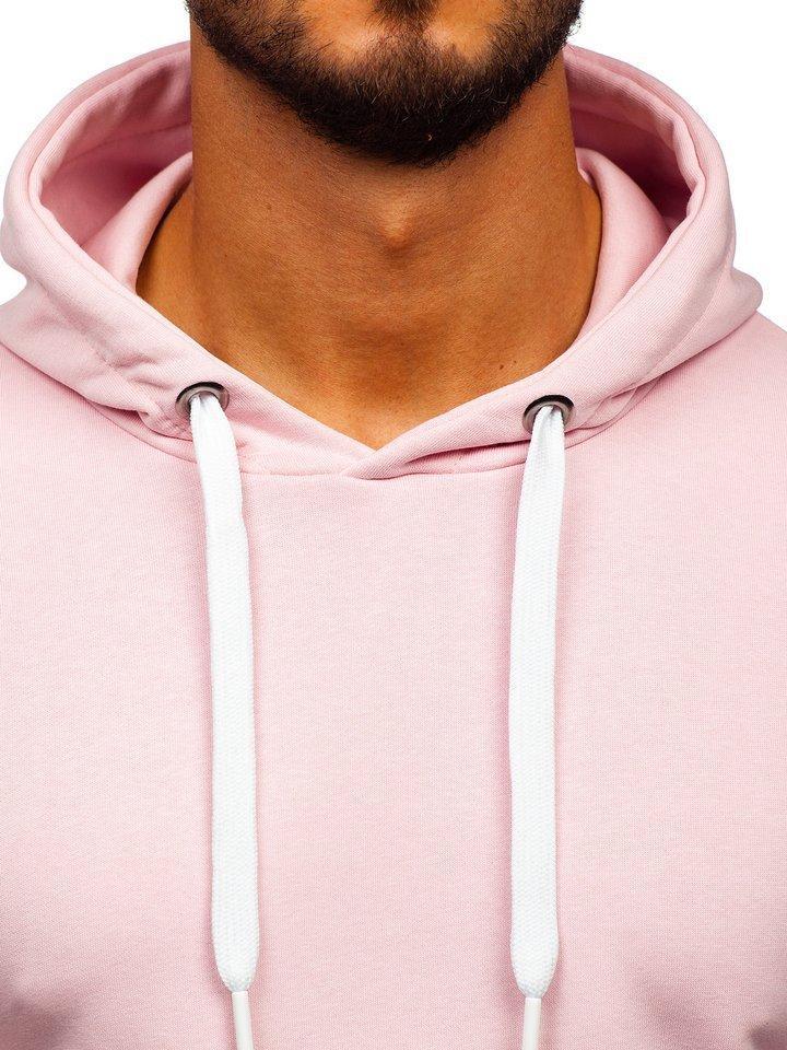 Světle růžová pánská mikina s kapucí Bolf 1004 e803afd4ad