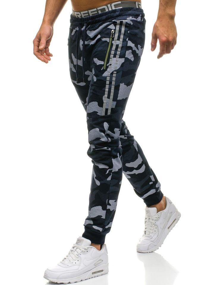 Tmavě modré pánské jogger tepláky Bolf W1601 f7e7c49e13
