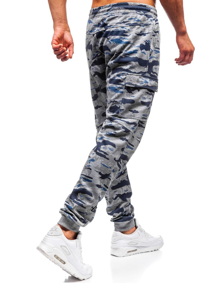 Tmavě šedé pánské maskáčové jogger tepláky Bolf Q3852 307dbacdf2