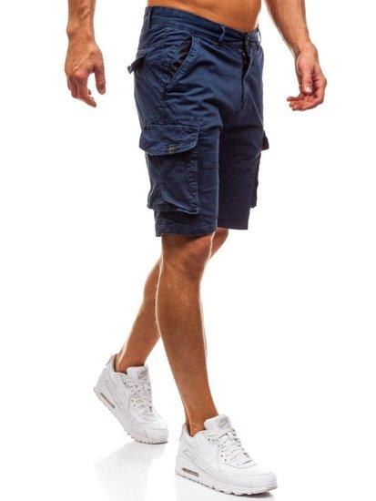 Tmavě modré pánské kapsáčové kraťasy Bolf 82221