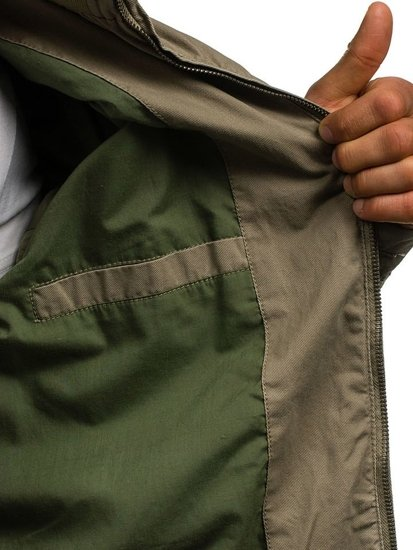 Béžová pánská přechodná bunda Bolf 1225