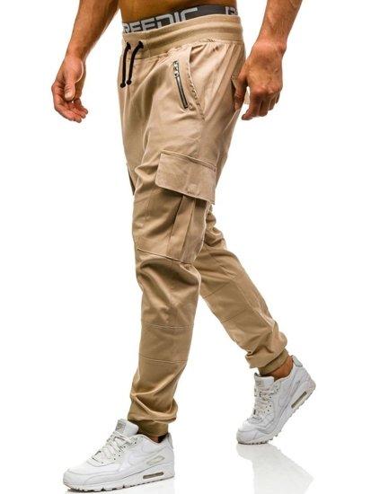 Béžové pánské jogger kapsáče Bolf 0707