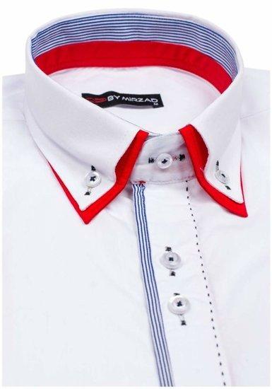 Bílá pánská elegantní košile s dlouhým rukávem Bolf 6859