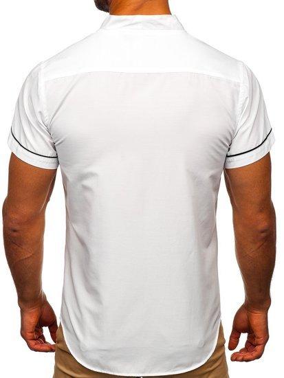 Bílá pánská košile s krátkým rukávem Bolf 5518