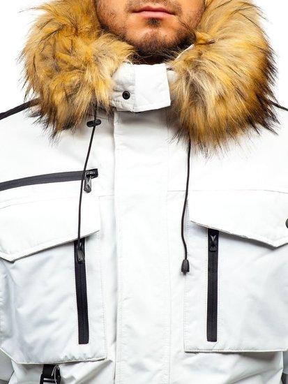 Bílá pánská zimní bunda Bolf 201812