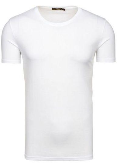Bílé pánské tričko bez potisku Bolf 7552