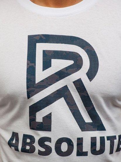 Bílé pánské tričko s potiskem Bolf 0005