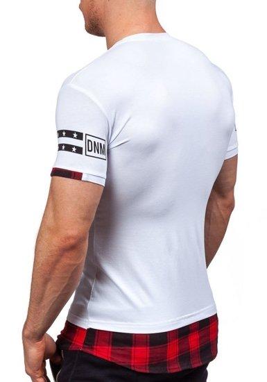 Bílé pánské tričko s potiskem Bolf 5112