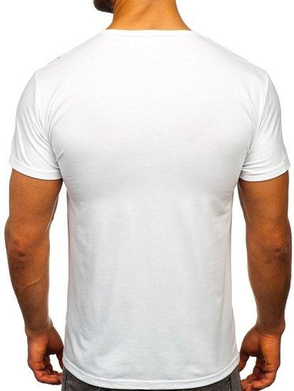 Bílé pánské tričko s potiskem Bolf KS1967
