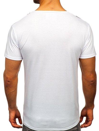 Bílé pánské tričko s potiskem Bolf KS1985